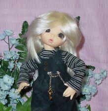 "Doll Wig Monique size 6/7 "" Joyce "" - White Blond"
