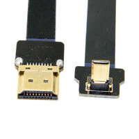 CYFPV 90 Degree Up Angled FPV Micro HDMI Male to HDMI Male Flat Cable 50cm