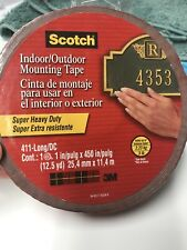 NEW Scotch® Outdoor Mounting Tape 411-LongDC, 1 in x 450 in (25,4 mm x 11,4 m)