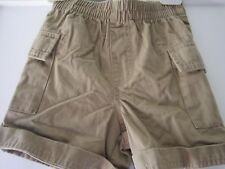 Boys Age 3 years Cherokee brown cotton shorts elasticated waist