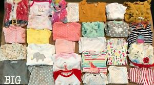 NEW LOT OF 30 Baby Girls Asst Clothing Little Baby, Simple Joys & More sz 0M-24M