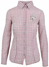 L' ARGENTINA Damen Bluse Women Shirt Größe 38 M Baumwolle & Leinen Kariert NEU