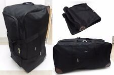 "33"" Large Spacious Collapsible Travel Trolley Bag Holdall Duffle Bag w/ Wheels"