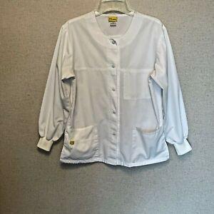 Wink Lab coat jacket size small nursing dental snap front multiple pockets