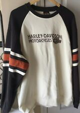 Harley Davidson Sweater Knit Spell Out Rock Hill, SC Motorcycle White Size XL