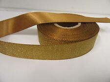 2 or 20 metres 25mm Glitter Satin Christmas Ribbon Xmas Roll Craft UK VAT Reg