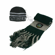 2pcs Harry Potter Slytherin House Cosplay Scarf + Cap Hat Soft Warm Costume Gift