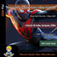 Marvel's Spider-Man: Miles Morales (PS4 Mod)-Max SP/EXP/Suits/Gadgets/Tokens