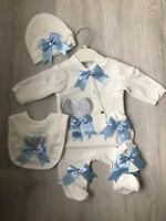 baby boy blue crown romper bodysuit growbag Baby shower gift Clothes Outfit Set