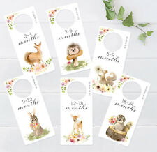 Wardrobe dividers. Woodland Animals. Nursery Decorative Closet organisers.