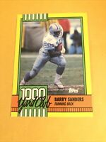 BARRY SANDERS OSU/DETROIT LIONS HOF 2ND YEAR 1990 TOPPS 1000 YARD CLUB INSERT SP