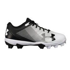 New Men's Under Armour Leadoff Low RM Baseball Cleats Black/White Size 8.5 M