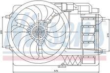 Engine Cooling Fan Assembly Front Nissens 85151 fits 94-99 Mercedes S320 3.2L-L6