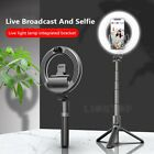 Bluetooth Selfie Stick Tripod LED Ring Fill Light W/ Phone Holder For Cellphones