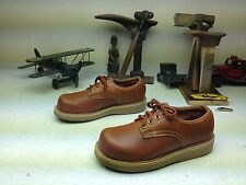 GOODYEAR DISTRESSED BROWN LEHIGH LACE UP SAFTEY TOE LEATHER WORK SHOES SIZE 10 M