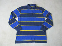VINTAGE Ralph Lauren Polo Long Sleeve Shirt Adult Large Blue Yellow Pony 90s *