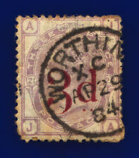 1883 SG159 3d on 3d Lilac Plate 21 K8A JA Worthing AP 29 84 Used Cat £160 cjuc