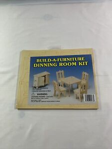 Build-A-Furniture Dinning (Dining) Room Kit Dollhouse Furniture New
