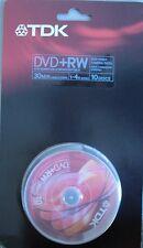 TDK DVD+RW 1,4 gb  Bobina de 10 unidades