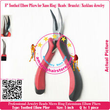 """5"""" spring mini Elbow Pliers for Nano Ring Beads Bracelet Necklace Jewelry Making"""