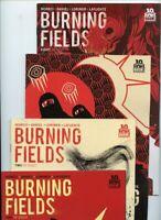 Burning Fields #1, #2, #4, and #8 Boom Studios Lot of 4 Comics