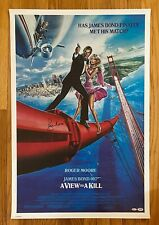 Roger Moore Signed 25x36 James Bond 007 A VIEW TO A KILL Poster PSA/DNA