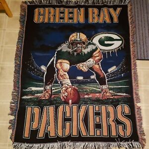 Northwest Co Green Bay Packers Woven Blanket Afghan Throw A22