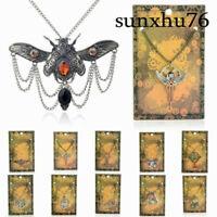 Necklace Jewelry Pendant Statement Machinery Choker Steampunk Vintage Chain Gear