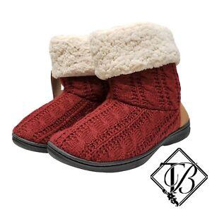 Dearfoams Women's Memory Foam Slippers Cabernet XL US 11-12 NWT NEW!