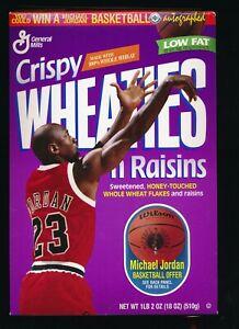 MICHAEL JORDAN 1997 Crispy Wheaties 'N Raisins Cereal Box 18oz Chicago Bulls NEW