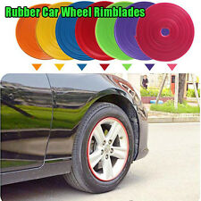 "White Blue Red Auto Tires Edge Protector Guard Insert Trim Wheel Rim Car 14""-22"""