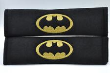 NEW DC Comics Superhero Batman Gold on Black Seat Belt Soft Pads