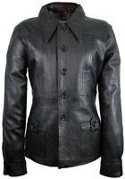Damen Lederjacke aus echtem Leder Kurz Mantel