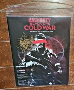 """Call of Duty: Black Ops COLD WAR 8.5"""" x 11"""" Wall Poster Book w/12 Posters!"""