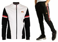ellesse Mens Sportwear Track Jacket Top, or Jog Pants Black White Mix Match