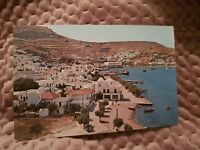 Patmos - View of the Harbour - Vintage Postcard