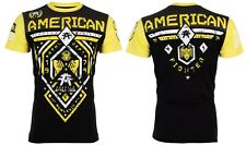 American Fighter Men S/S T-Shirt FAIRBANKS Athletic BLACK YELLOW Biker S-3XL $40