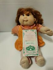 Vintage Cabbage Patch Kid Cornsilk Kids Doll Red Hair Brown Eyes with Birth Cert
