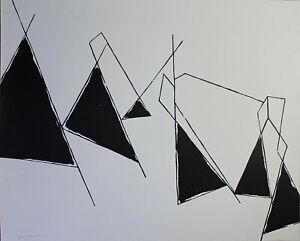 PETER HERKENRATH - Abstrakte Komposition (1955). Unsignierte Druckgrafik.