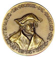 HUMANIST / HISTORY / DAMIÃO DE GOIS 1502-1574 / BRONZE MEDAL / M33