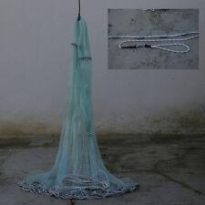 Rezzaglio sparviero 12 mt in  Nylon rete 15mm con anello e tiranti esca vivo