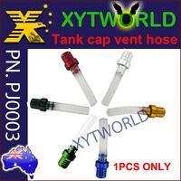 PJ0003 Motorcycle Fuel Gas Tank Cap Breather Vent Hose Anti Reverse Dirt bike MX