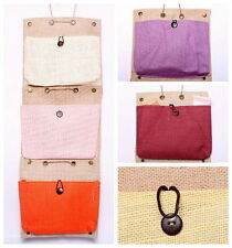 Organizer Storage Bags 6 Candy Colors Zakka Eco-Friendly Hanging Single Pocket