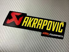 Adesivo Sticker AKRAPOVIC Power Alte Temperature High Temperatures Exhaust