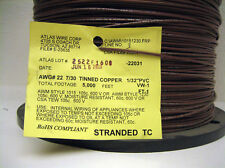 Brown 22 AWG Hookup Wire UL1015  5000' RoHS