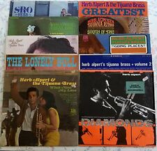 "HERB ALPERT & TIJUANA BRASS RECORDS, LOT OF 9 VINYL LPs + 12"" SINGLE: DIAMONDS."