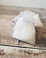 Snow confetti in Organza Bags - Winter wonderland wedding - Sparkling