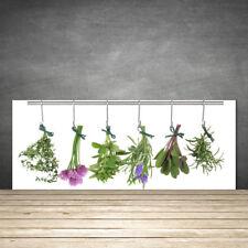 Crédence de cuisine en verre Panneau 125x50 Floral Fleurs Feuilles