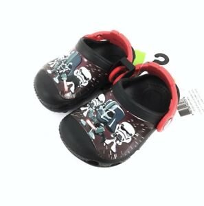 Crocs Star Wars Darth Vader Storm Troopers Toddler/Baby Shoes Sz. 4  New