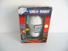 Vintage Wind Up Walk Robot; Plastic with Mechanical mechanism; boxed; Hong Kong